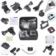 Aipal for Gopro Equipment set for go professional hero 5 four equipment mount for SJCAM SJ5000 xiaomi yi Aipal A1 H9 motion digital camera