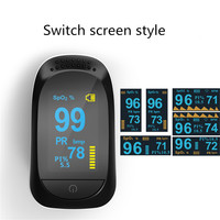 Medical Sport Finger Pulse Oximeter Portable oximeter PI Heart Rate Monitor Blood Oxygen Saturation