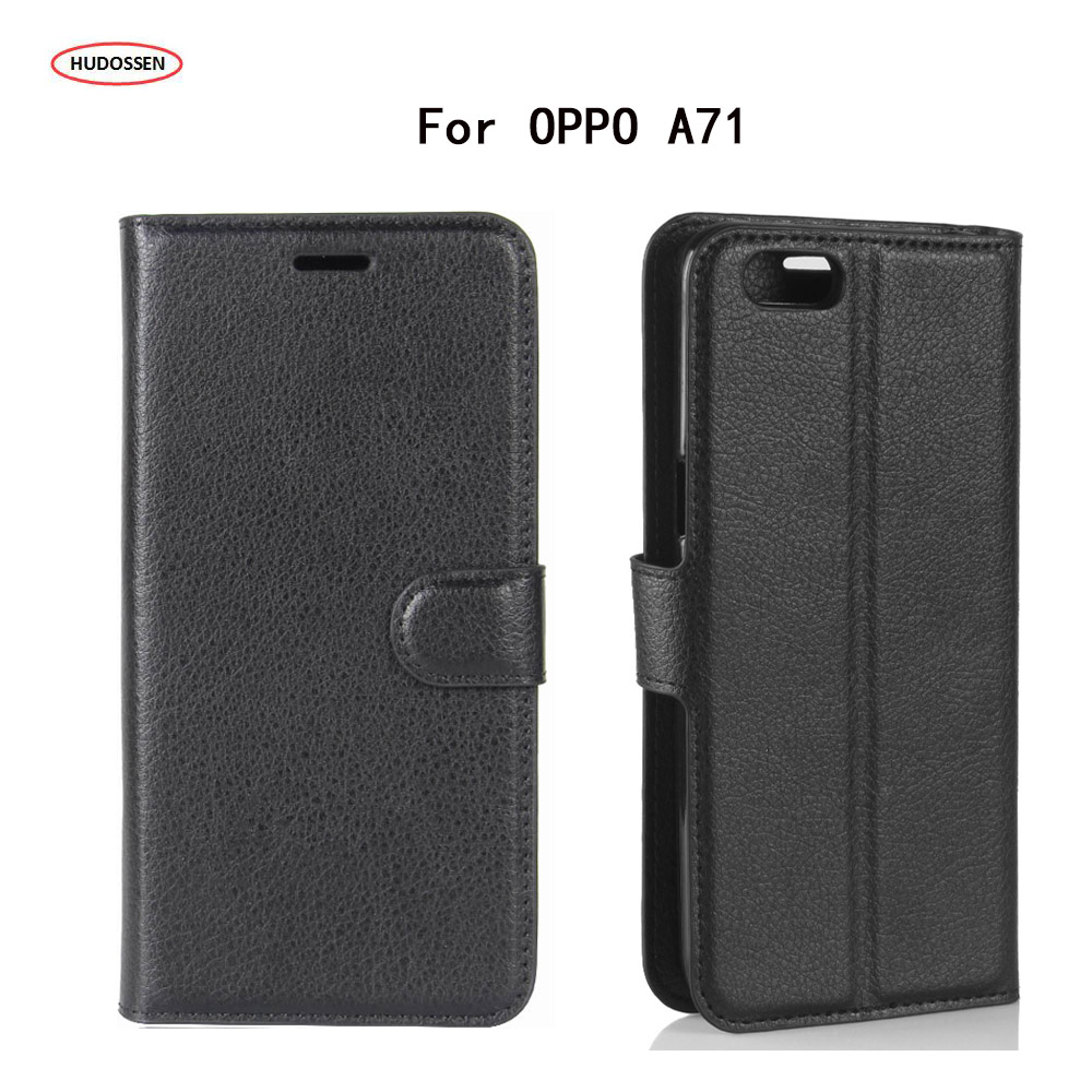 HUDOSSEN For OPPO A71 Case Luxury Flip Leather Back Cover Phone Accessories Bags Skin Coque Para For OPPO A71 Cases Fundas
