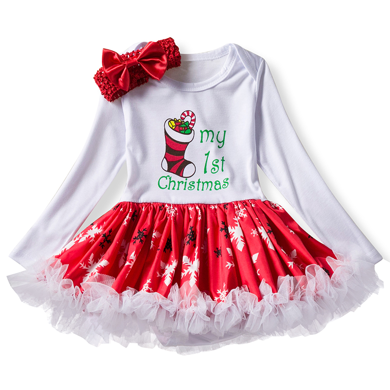 Baby Girls Clothes 1 Year 1st Christmas Birthday Dress Party Dresses For Girl Toddler Kids New Year Santa Costume Outfits 12M new baby girls clothes infant 1 year 1st birthday outfits fancy unicorn party dress baby kid girl hairband rompers tutu dress