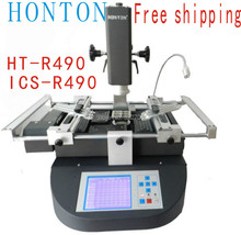 Free shipping! Honton HT-R490 bga reballing machine, bga rework machine, upgraded from R392 welding equipment 220v black