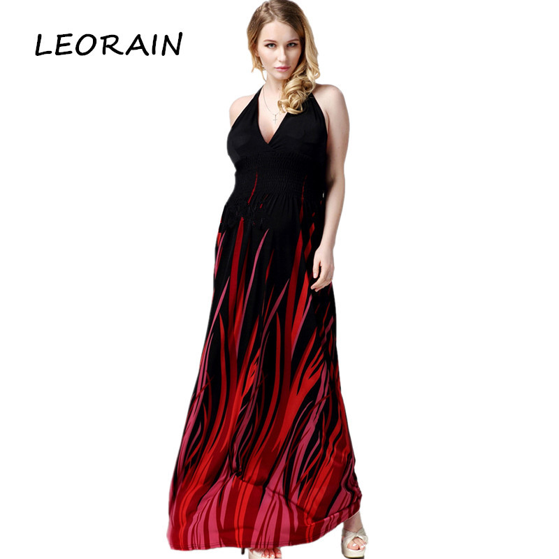 Buy Cheap 6XL 7XL 5XL 4XL 3XL Plus Size High Quality 2017 New Sexy Elegant V-neck Bohemian Maxi long Summer Dress Ukraine Sundress LEORAIN