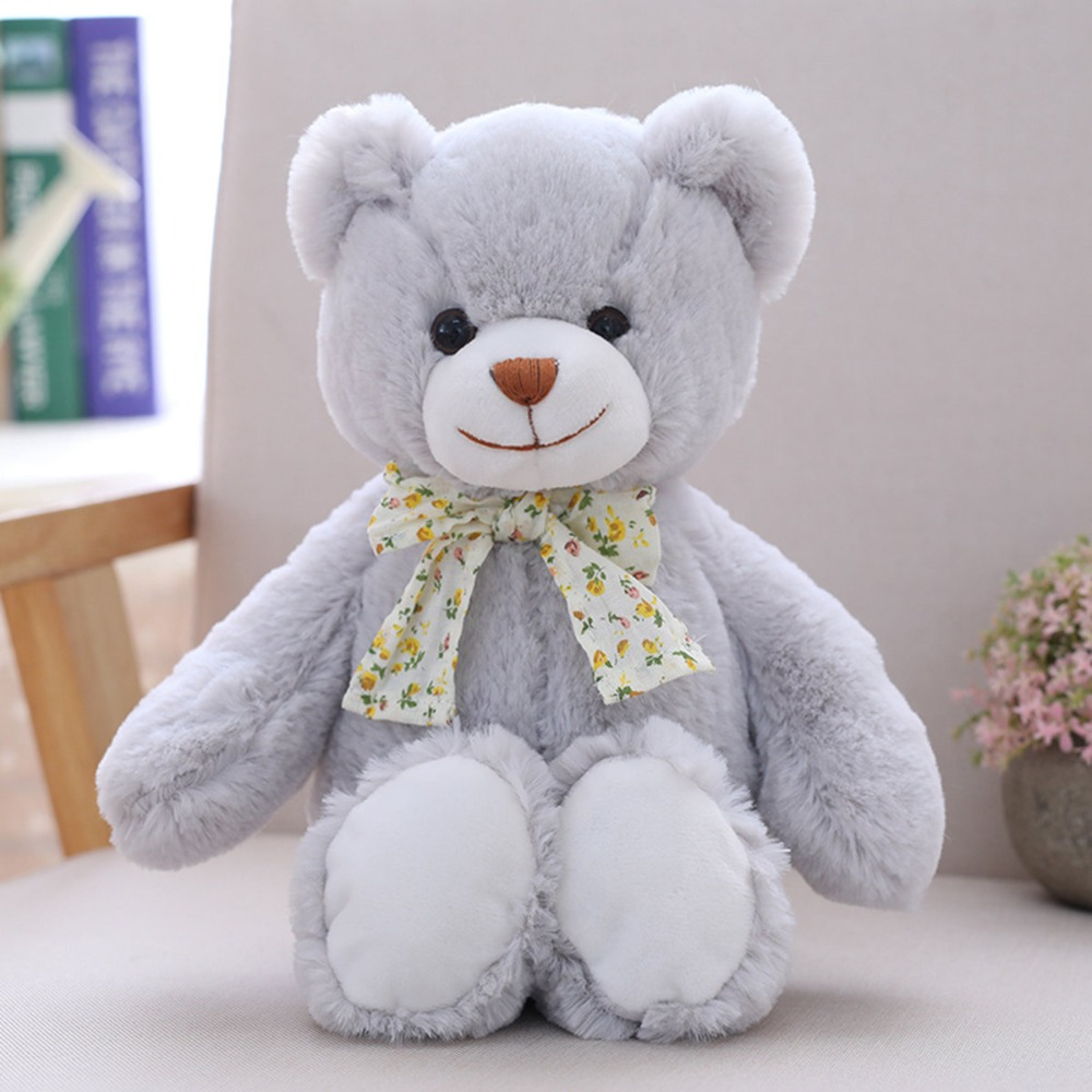 1 pcs 30cm Cute Teddy Bear with Bow tie Soft Kawaii Kids Toys Staffed Animal Plush Doll for Children Birthday gift