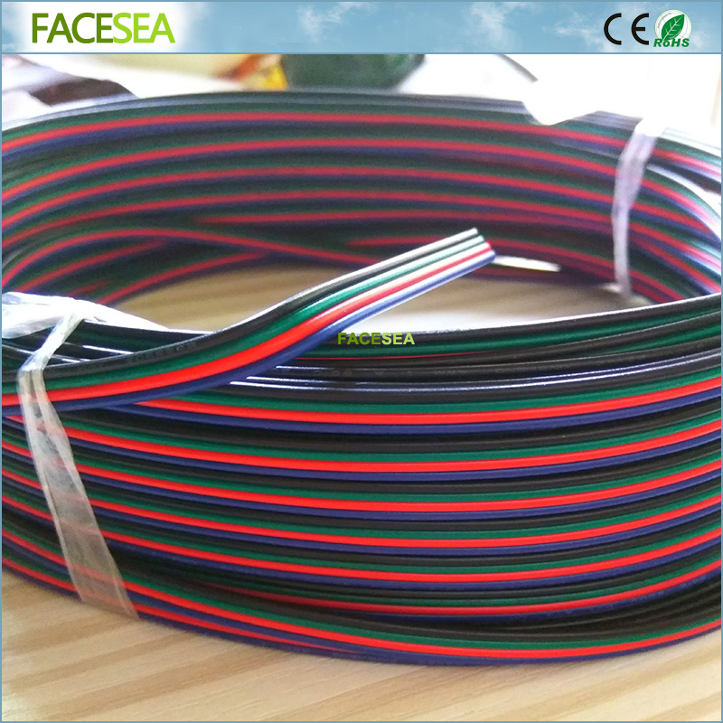 20m 50m 4pins tinned copper wire,RGB extension cable wire, 22AWG LED strip electronic wire cable, DIY connecting 5m yaskawa servomotor sgmgh 13aca61 driver sgdm 15ada encoder connecting cable wire