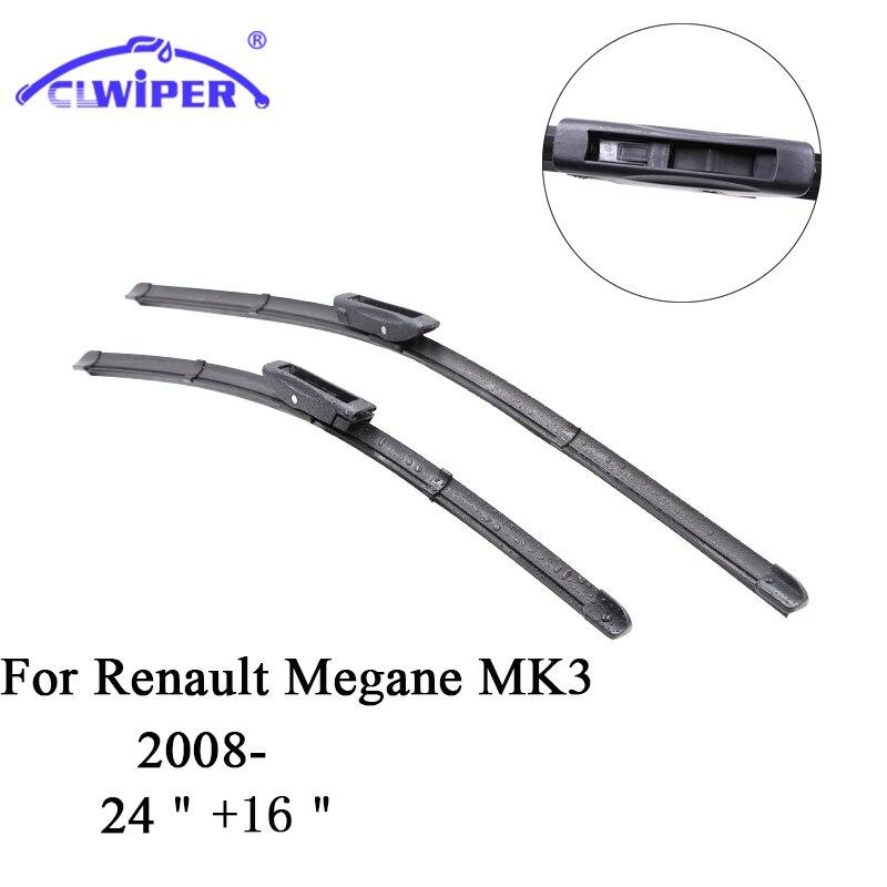 CLWIPER Wiper Blades For RENAULT MEGANE MK3 (2008 ) 2009