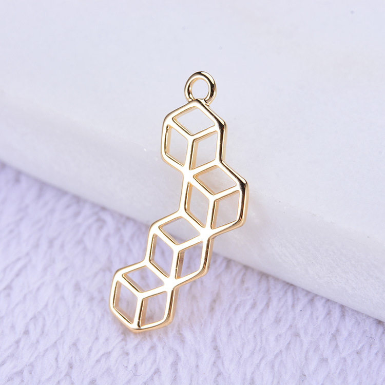 (186)10PCS 23*8.5MM 24K Gold Color Brass Charms Pendants High Quality Diy Jewelry Findings Accessories wholesale