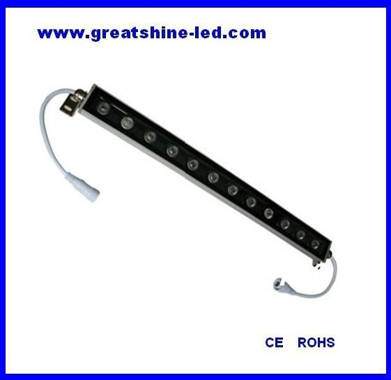 500mm IP66 12x3W 3in1 24V exterior dmx controler RGB super thin <font><b>led</b></font> wall washer image