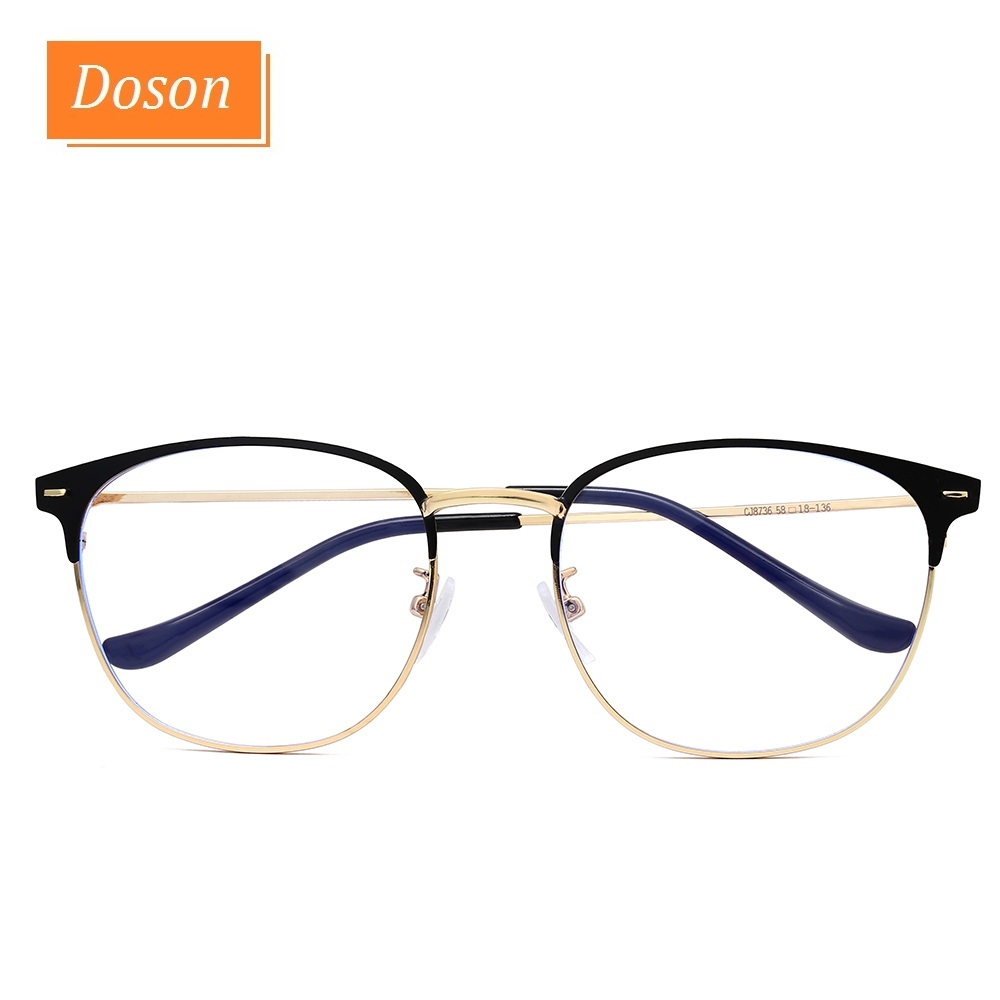 2019 Newest Fashion Metal Glasses Frame Women Men Unisex Myopic Optical Eyeglasses Frames Anti Blue Rays Clear Lens Okulary