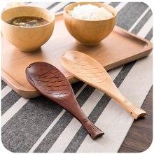 Fisch Form Küche Holz Turner Reis Küche Werkzeug Holz Geschirr Umweltfreundliche Phoebe Holz Kreative Cartoon