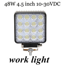 free shipping Off Road Truck Trailer Interior and Exterior Lighting 2PCS 48W 4.5 inch LED Work light Spot Beam 10-30V  fog Lamp