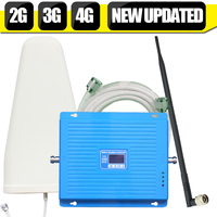 600m2 2G 3G 4G 70dB Cellular Signal Booster GSM 900 DCS LTE 1800mhz WCDMA 2100mhz Repeater