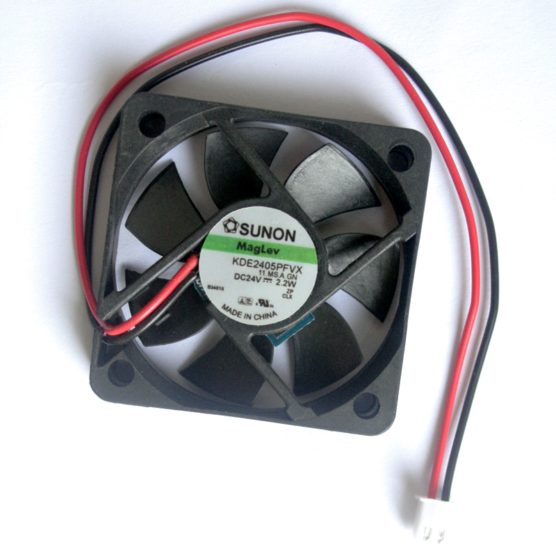 SUNON 5CM KDE2405PFVX DC 24V 5010 50*50*10 MM 2.2W 2 line Inverter Cooling Fan eec0252b3 d00u a99 new sunon 12025 24v 2 0w 12cm cooling fan