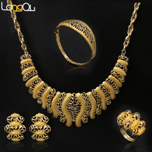 1b369668b 2018 fashion Wholesale African costume jewelry sets/ Gold-color fashion  necklace sets Bridal Jewelry