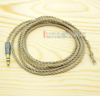 LN004433 1.3m Semi Finished 3.5mm Earphone audio DIY Silver Plated OCC wire cable For Westone IE800