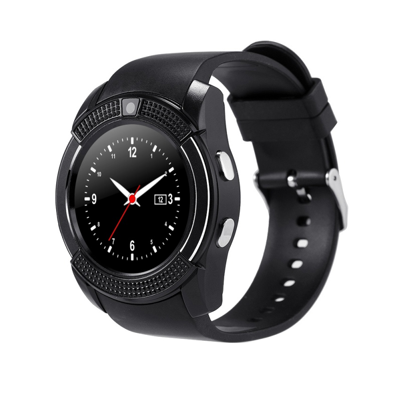 imágenes para V8 Reloj Inteligente Bluetooth apoyo TF Tarjeta Sim Impermeable Llamada Mensaje Recordatorio Pasómetro 0.3MP Cámara para IOS Android Móviles