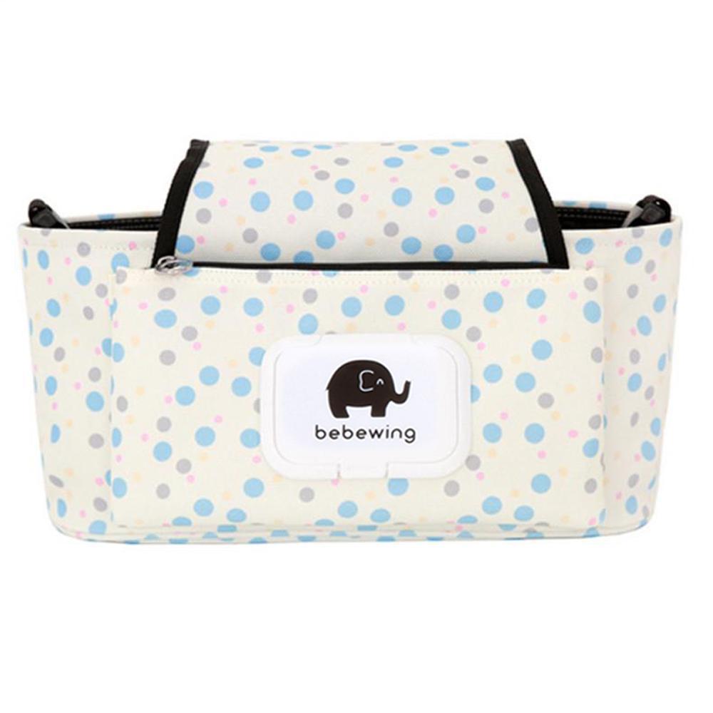 Impressão Saco Do Trole com Bolsa Destacável Multifuncional Carrinho De Bebê Carrinhos de Bebê Pram Buggy Carrinho Pendurado Saco Organizador A5
