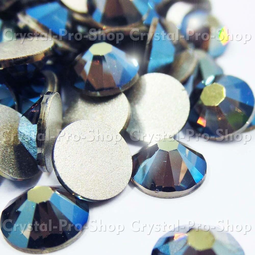 ss34 GENUINE Swarovski Elements Crystal Iridescent Green (IRIG)  468d7500683a