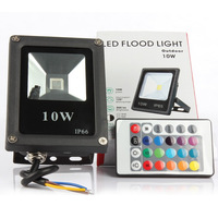 50pcs Floodlight Led RGB 10W Waterproof Led Spotlight Outdoor Lighting Landscape Lighting With Remote Control