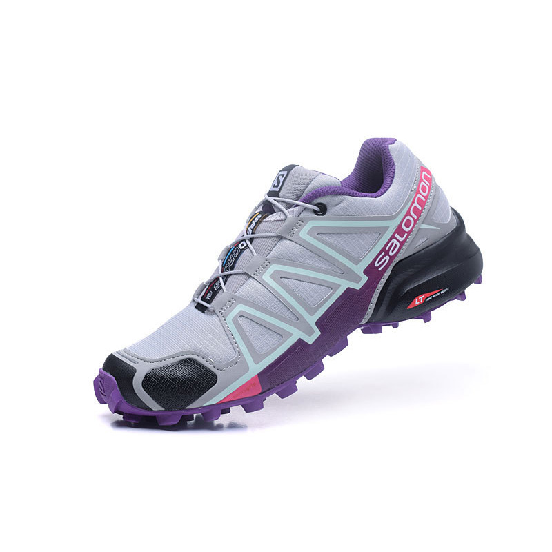 Salomon Speed Cross 4 CS Lace-up Woman Breathable Outdoor Sneakers Summer Athletic Running Jogging Shoes colour block lace up splicing athletic shoes