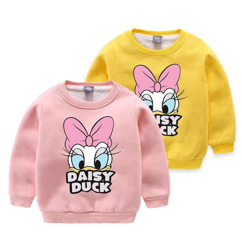 Angeltree Daisy Luck Boys Sweatshirt Girls Long Sleeve Tops Cartoon Childrens Pullover Outerwear Autumn Spring Tops T-Shirt