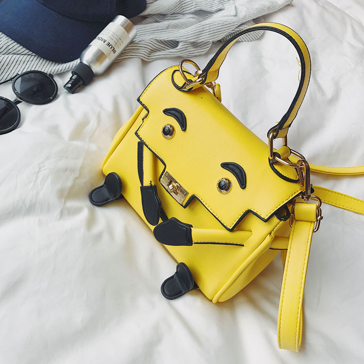 summer New Fashion Cute Cartoon Ladies Handbag Smiling Shoulder Strap Female Totes Casual Shoulder Bag Crossbody Messenger Bag