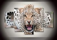 HD Printed Leopard Landscape Group Painting Room Decor Print Poster Picture Canvas Free Shipping