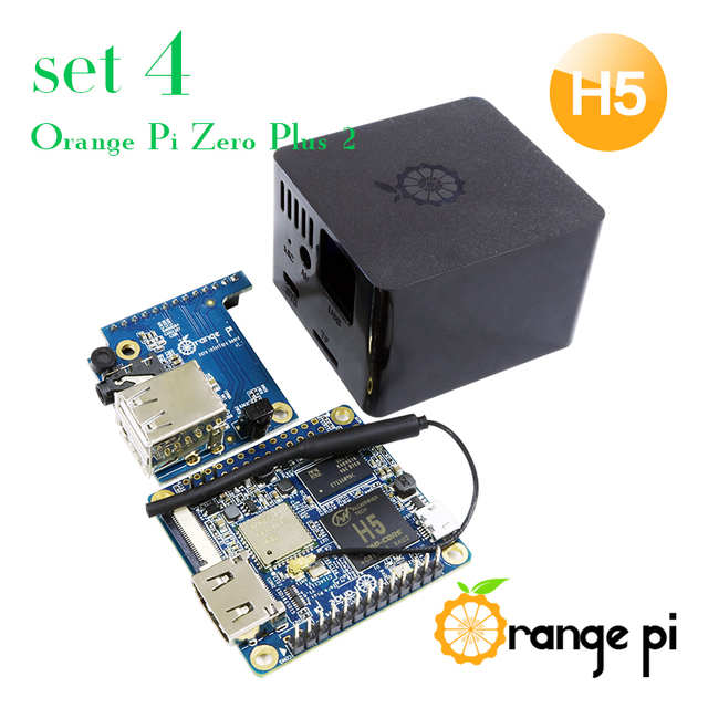 Orange Pi Zero Plus 2 H5 Set 4: Zero Plus 2 H5+Protective Black Case+Expansion Board, A development board, beyond Raspberry