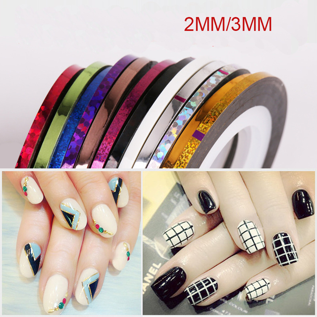 8pcs bag 2mm3mm mixed colors radium nail line stickers roll 8pcs bag 2mm3mm mixed colors radium nail line stickers roll striping tape line prinsesfo Choice Image