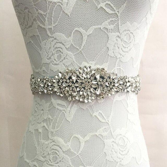 Beaded Crystal Long  Bridal Sash 2017 Handmade Satin Wedding Bridal Belt New Wedding Accessories