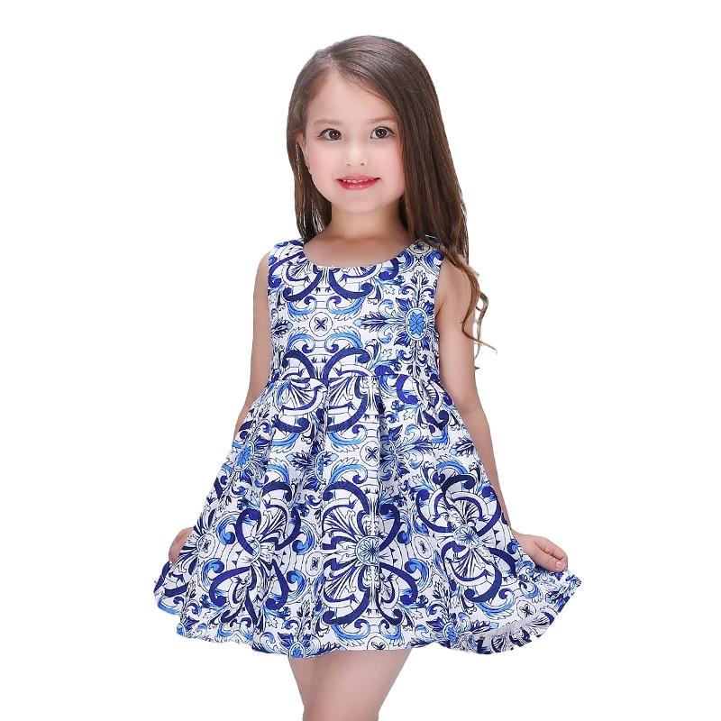 Summer Milancreations Girl Dress Sleeveless Milan Creations Girl Dress Ceremony Print Flower Tutu For Baby Girl 2-12 Years