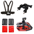For Gopro accessories chest belt strap bicycle Bracket flat adhesive mount Helmet strap for Gopro hero 4/3+/3/2/1 SJ4000 XIAO yi