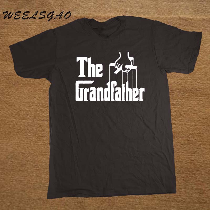 The Grandfather Gift For Grandad Fathers Day Men T Shirt Tshirt Short Sleeve Cotton T-shirt Tee Camisetas