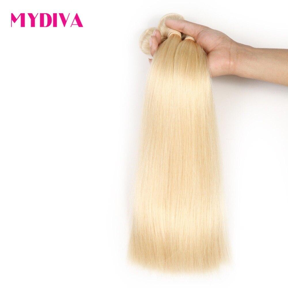 Cheveux malaisiens blonds platine 100% Extensions de cheveux humains Remy Blonde 613 cheveux 10-24 pouces 1 pièce ou 3 paquet