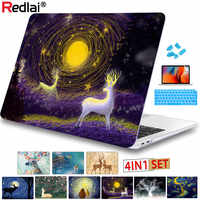 Redlai Clear Crystal Dear Case For Macbook Air 13 inch A1932 2018 for apple  macbook Pro 13 Touch Bar Retina A1706 A1989