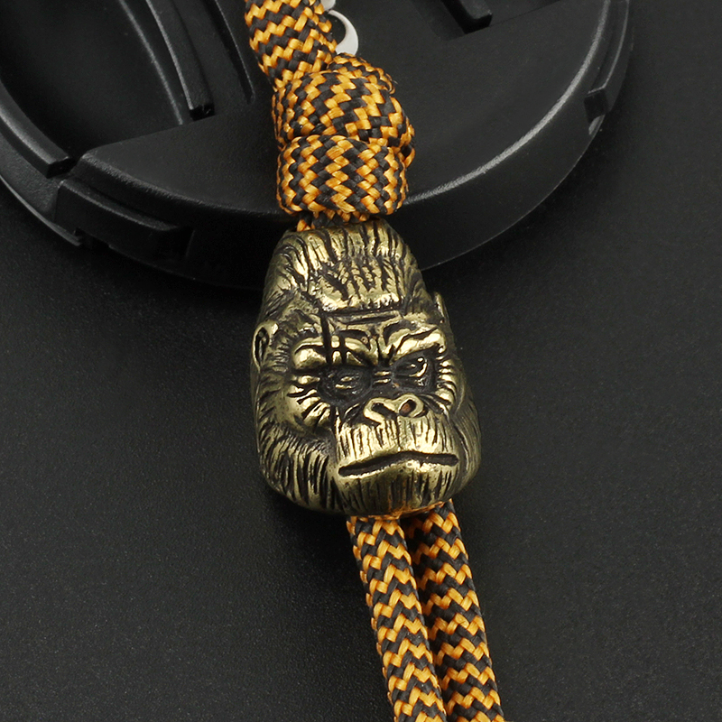 Brass Personality Monkey Knife Beads Umbrella Rope Bead Outdoor Knife Orangutan Paracord Pendant