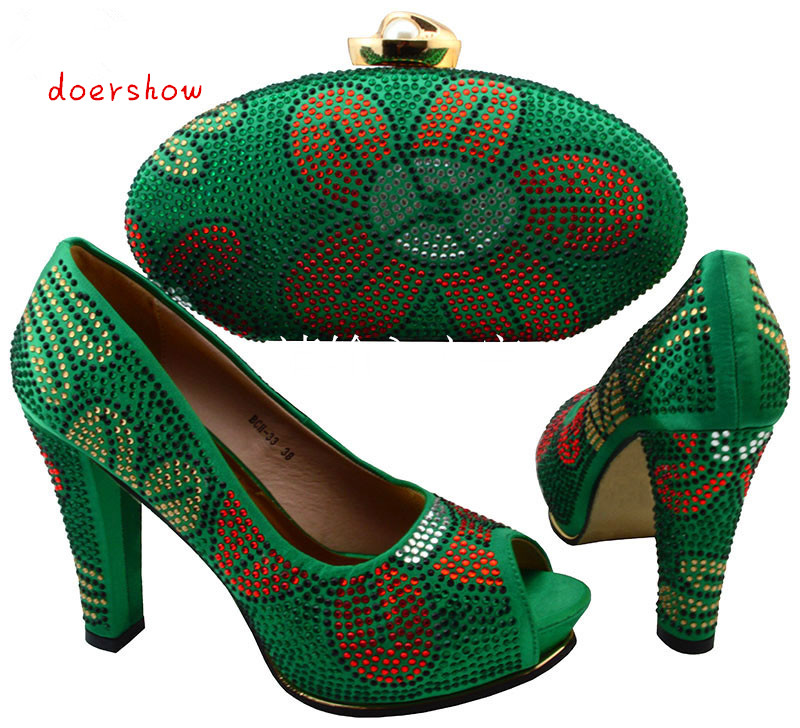 Beautiful Italian Shoes With Matching Bags To Match ,New African Shoes And Matching Bag Sets For Wedding doershow  BCH1-9 new arrival fashion italian shoes with matching bags set for wedding and party african shoes and bag sets with stones bch 16