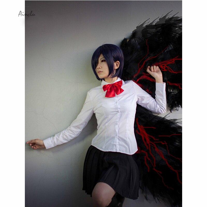 Ainclu Free Shipping Tokyo Ghoul Kirishima Toka Adult Halloween Cosplay Costume Summer School Uniform Customize for plus size
