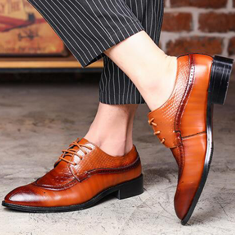 mens black dress shoes genuine leather black wedding business brogue oxford shoes for men Genuine Leather Handmade office shoes vikeduo style semi brogue oxford shoes men welted brown color black sole handmade mens wedding dress shoes footwear casual