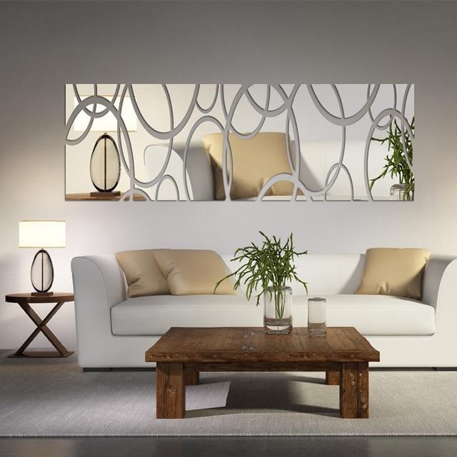 Acryl Spiegel Wand Dekor Kunst 3D DIY Wandaufkleber Wohnzimmer Esszimmer  Schlafzimmer Dekor Kunst Spiegel Aufkleber