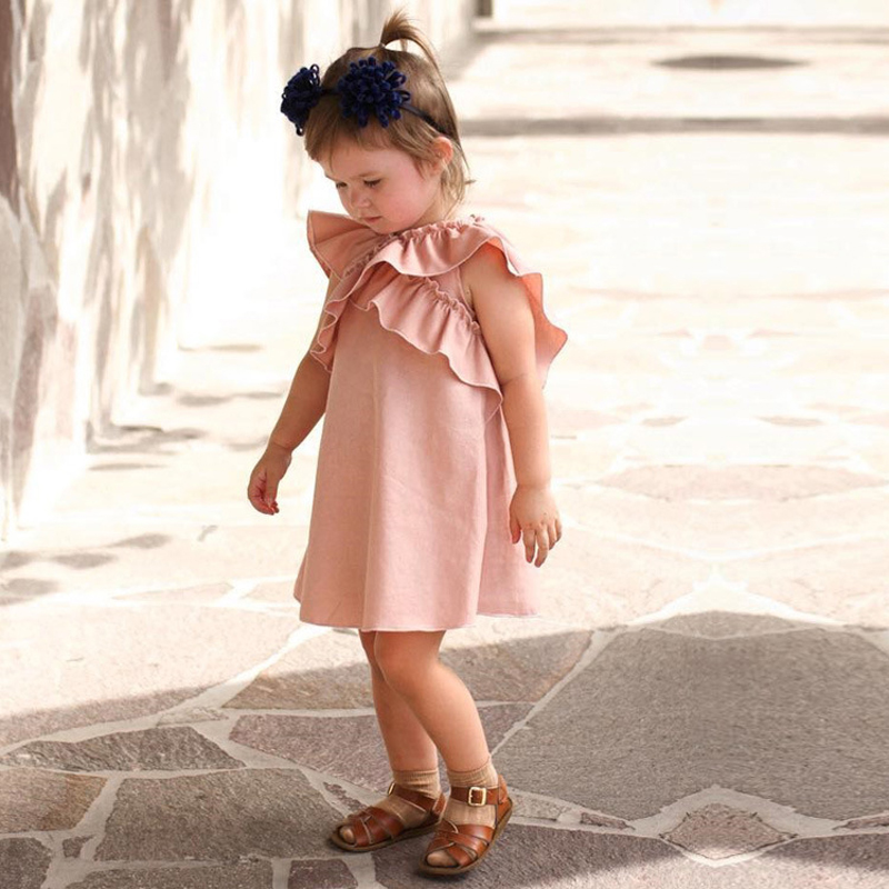 Baby Girls Sleeveless Dress Summer Princess Clothing Fashion Ruffle Brand Newborns Toddler Girl Clothes Party Dresses carnaval 2 clearance baby dresses princess girls dress 2 5years cotton clothing dress summer clothes for girl