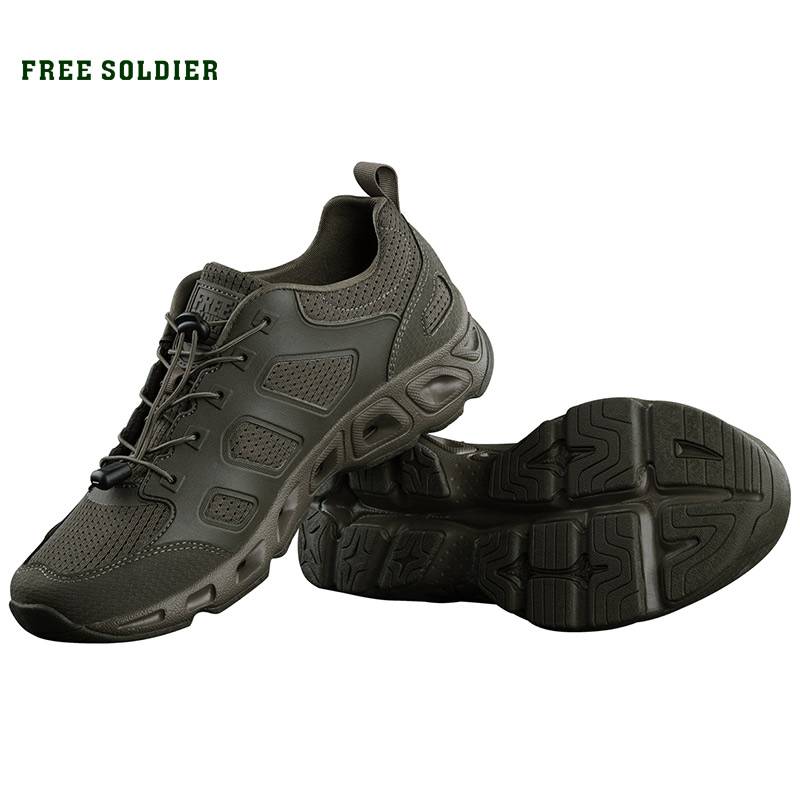 FREE SOLDIER outdoor sports camping tactical military upstream shoes hiking waterproof breathable quick drying shoes for