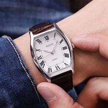 2016 big sale men fashion casual business sports genuine leather watch Male retro analog tonneau watches Famous top Julius 703