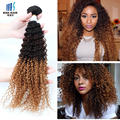 2 Bundles 3 tone T1b 4 27 Ombre Hair Tissage Brazilian Kinky Curly Virgin Hair Meches Bresilienne Lots Ombre Curly Human Hair