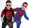 Classic Spiderman Niño con Traje de juego de Los Deportes 2 unidades set Chándales de los muchachos Que Arropan los sistemas Coat + Pant para 2-7y ST173
