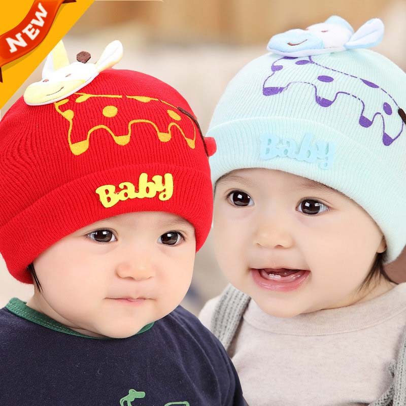 33cd28caf3b5 1Set Free Shipping Infants And Children Newborn Cartoon Giraffe Wool ...
