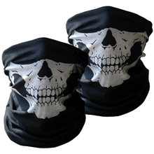 Skelet Gezichtsmasker Outdoor Zonnebrandcrème Rijden Gezichtsmasker Fiets Klim Cross Country Ski Skull Ghost Sjaal Multi Use Neck Warmer(China)