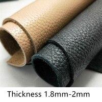 Кожаный верхний слой коровьей кожи черный ручной работы diy мягкая сумка диван личи кожа ткань