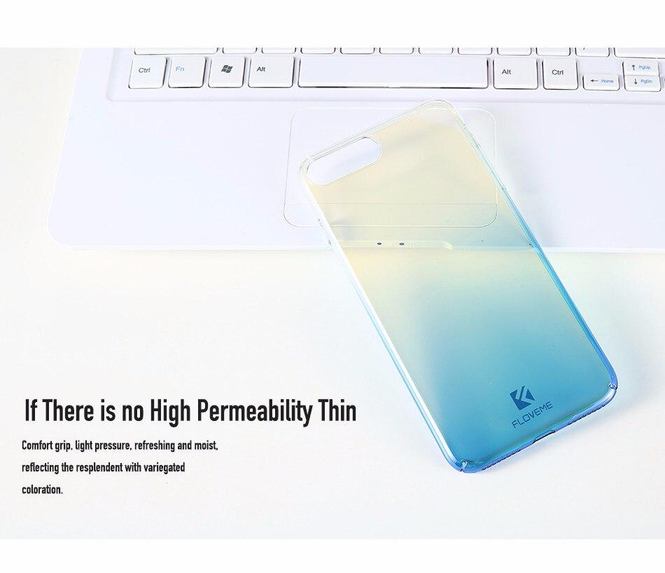Floveme niebieski ray gradientu przypadki telefonów dla iphone 5 5s se 6 7 6 s plus case do samsung s8 s6 s7 pokrywa dla xiaomi redmi 4 mi5 krawędzi 10