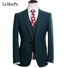 La MaxPa (jacket+vest+pants) Custom made brand suit men wedding suit for man business formal suit slim fit prom groom party