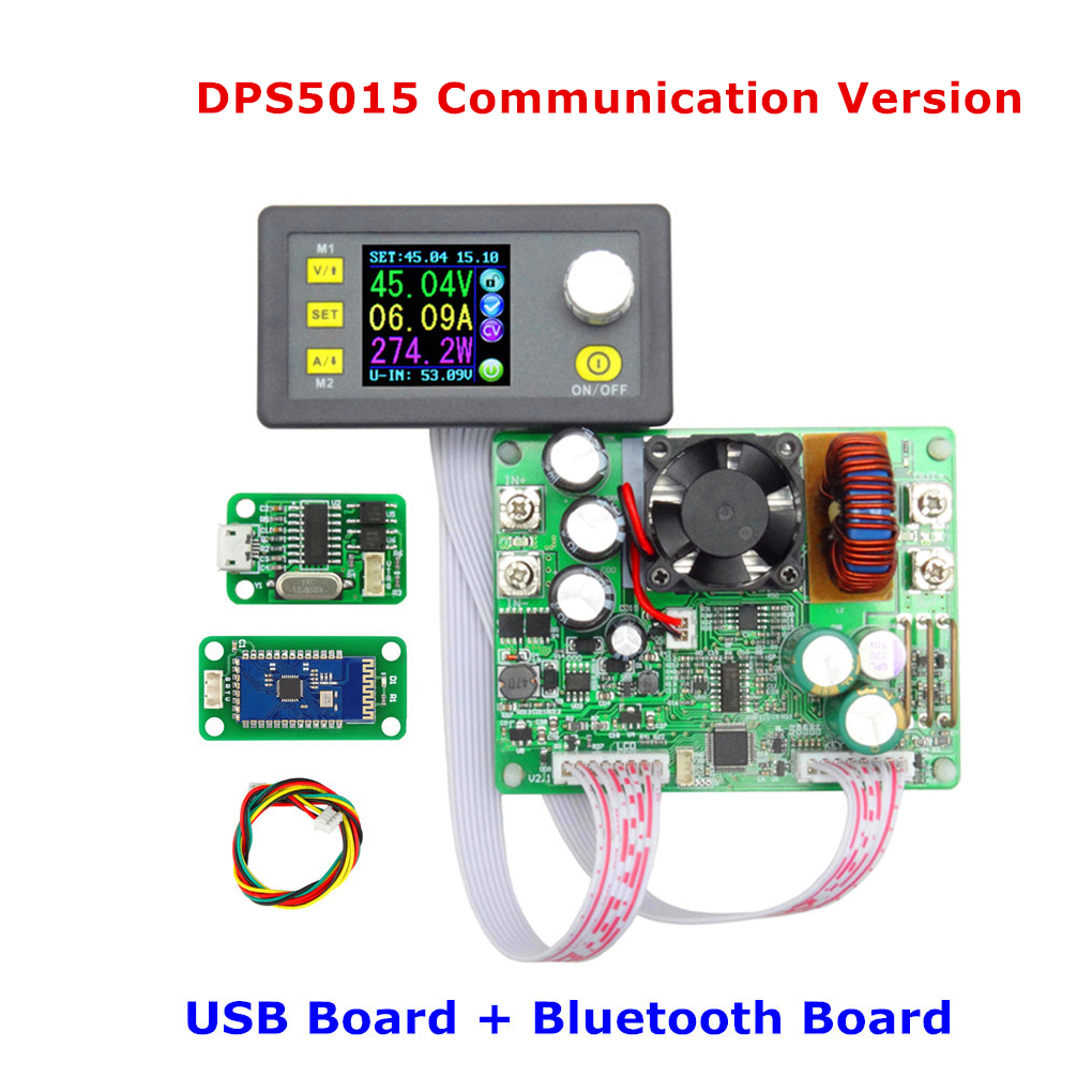 DPS5015 USB Bluetooth Communication Constant Voltage Current Step-down Power Supply Module Buck Voltage Converter LCD Voltmeter solar energy wind power regulator charging automatic buck voltage constant voltage constant current adjustable power supply